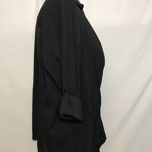 Fred David Tops - Fred David Black Button Front Blouse Sz 2X NEW